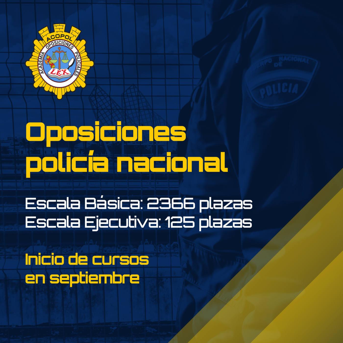 Cursos policía Nacional 2021-2022, ACOPOL