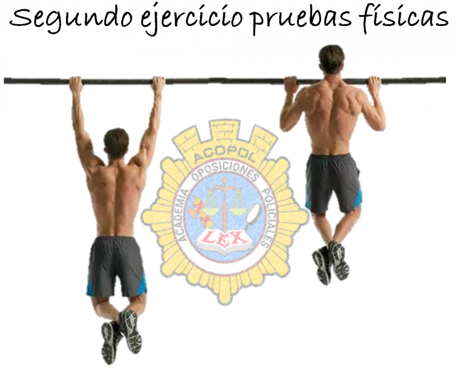 Segundo ejercicio pruebas físicas. Ejercicio barra., ACOPOL