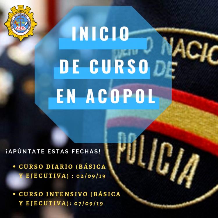 Nuevos cursos preparación al Cuerpo Nacional de Policía. Escala Ejecutiva y Básica. Promociones año 2020/2021, ACOPOL