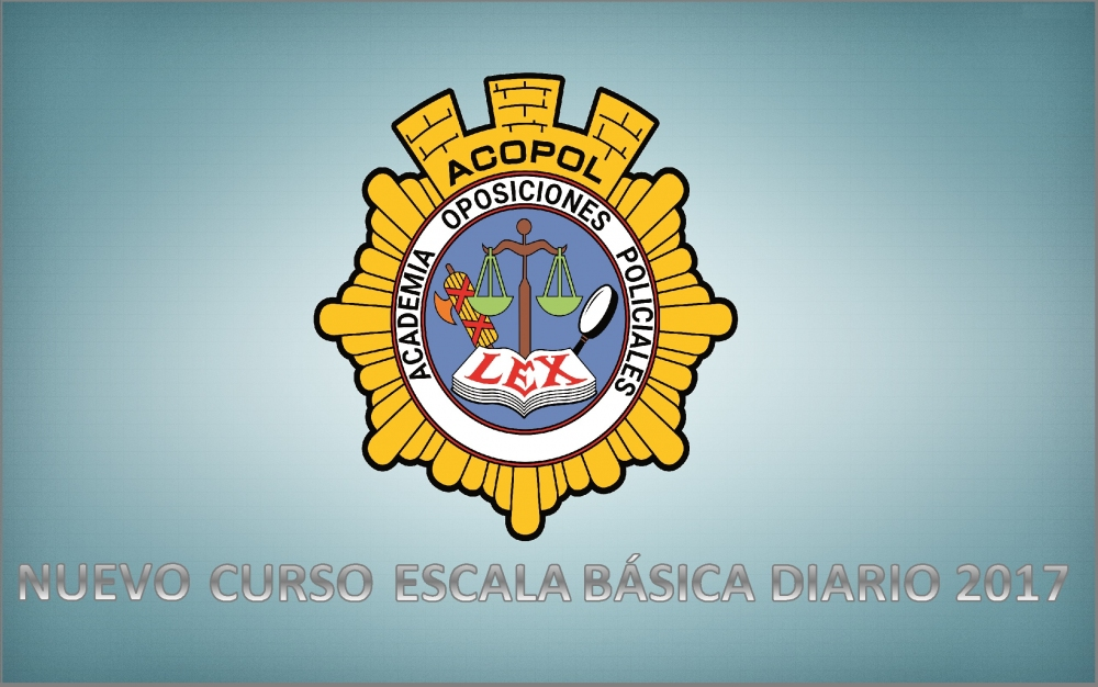 Nuevo curso Escala Básica 2017, ACOPOL