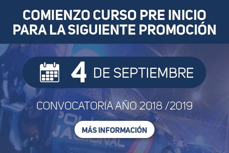 Curso preinicio Escala Ejecutiva para la convocatoria año 2018/2019, ACOPOL
