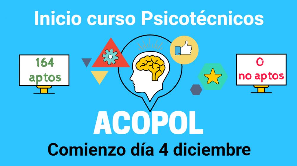Curso psicotécnicos para escala básica y ejecutiva, ACOPOL
