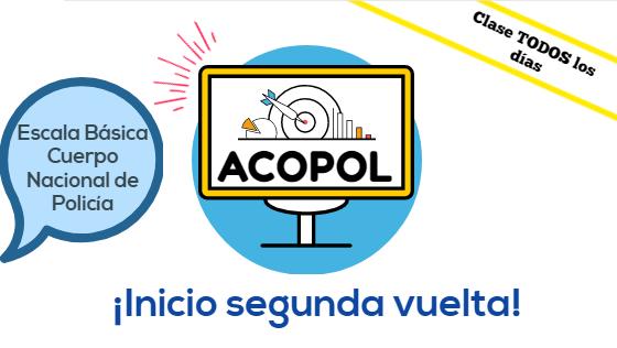 Comienzo segunda vuelta Escala Básica promoción 2018/2019, ACOPOL