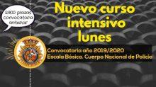 Curso preparación al Cuerpo Nacional de Policía Escala Básica intensivo LUNES promoción año 2019/2020