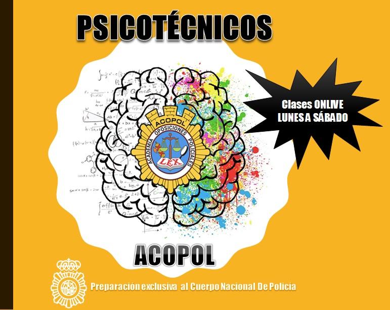 II Curso psicotécnicos ONLIVE, ACOPOL