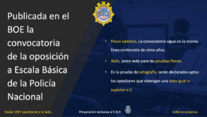 Convocatoria Escala Básica Policía Nacional