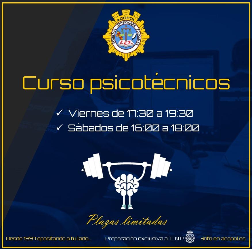 Comenzamos la preparación de los psicotécnicos de la oposición a Policía Nacional, ACOPOL