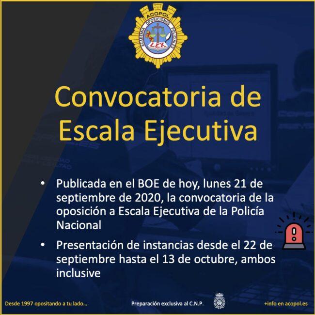 Convocatoria oposición escala ejecutiva policía nacional