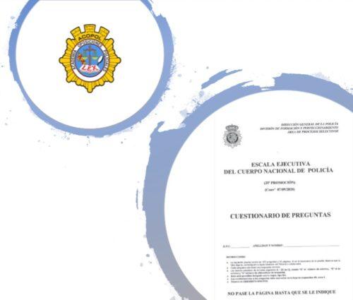 examen de conocimiento de la oposición a escala ejecutiva de la policía nacional
