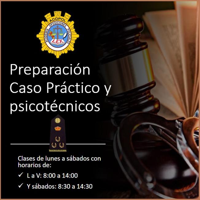 Preparación caso práctico, psicotécnicos, CIB y test de personalidad Escala Ejecutiva, ACOPOL