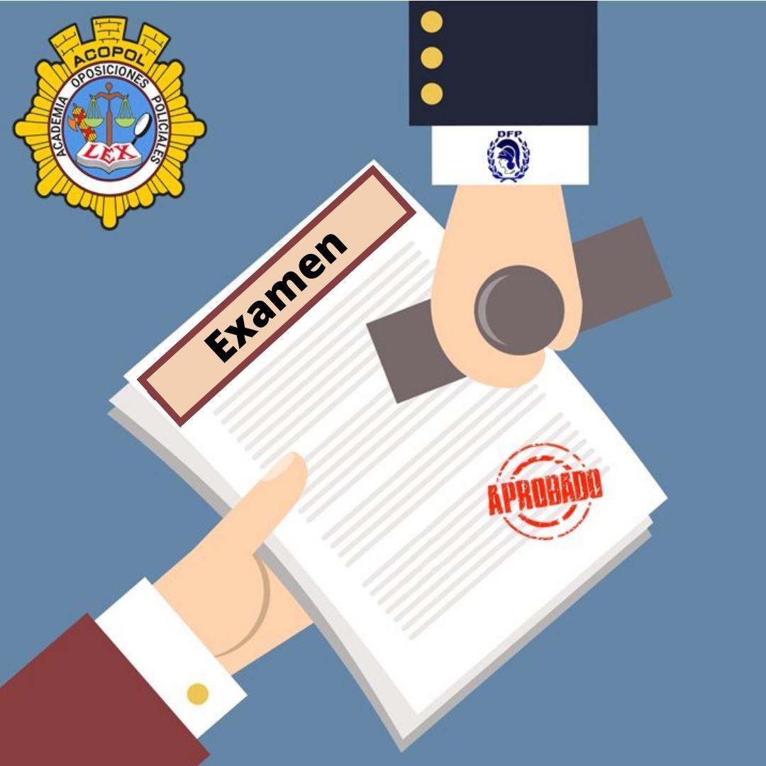 Examen escala básica Policía Nacional