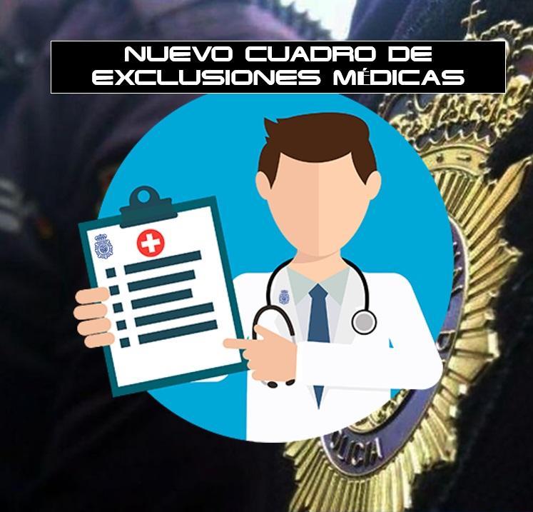 Actualización del cuadro médico de exclusiones para el ingreso en la Policía Nacional, ACOPOL