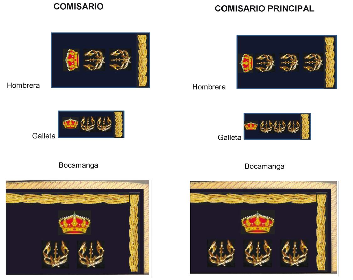 Conoce los distintivos de cargo y divisas del Cuerpo Nacional de Policía, ACOPOL